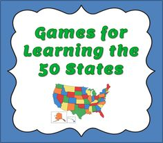 Corkboard Connections: Games for Learning the 50 States - Learning the 50 states can be fun when students play games and interactive websites.