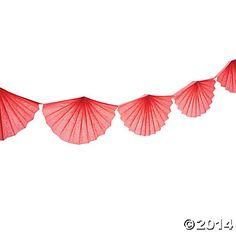 Coral Semi-Fanburst Garland, Garland, Party Decorations, Party Supplies - Oriental Trading $4.25