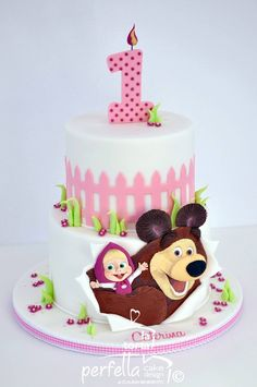 Cake topper Masha Y El Oso . Cake topper Masha Y El Oso . 235 Best Cakes Winnie the Pooh and Masha & the Bear Images Pig Birthday Cakes, Bear Birthday, Birthday Gifts, Masha Et Mishka, Masha Cake, Marsha And The Bear, Teddy Bear Cakes, Minnie Mouse Cake, Bear Party