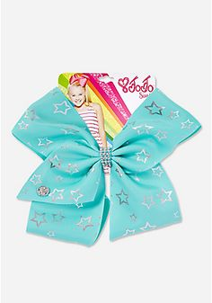 Justice Exclusive Silver Star Jojo Siwa Bow