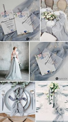 Silver wedding inspiration for the alternative, creative bride. elegant blush and navy parchment layered wedding invitations with silver ribbons # wedding # wedding invitations # stylicwedd Silver wedding inspiration for the alternative, creative bride. Grey Wedding Theme, Spring Wedding Invitations, Wedding Themes, Wedding Cards, Wedding Colors, Dream Wedding, Wedding Decorations, Bling Wedding, Wedding Ribbons