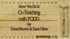 PrAACtical AAC: How We Do It-Co-Teaching with PODD by Dana Brown and Sara Olsen. Pinned by SOS Inc. Resources. Follow all our boards at pinterest.com/sostherapy/ for therapy resources.