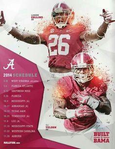2014 Alabama Football schedule ~