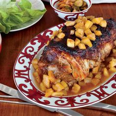 Slow-Cooked Sweet-and-Sour Pork Shoulder with Pineapple