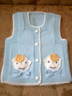 Baby Vest with Bear Pattern