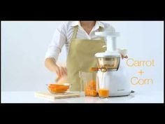 I just might need another juicer!  This looks awesome! Hurom Slow Juicer HU-100 ULTEM Video