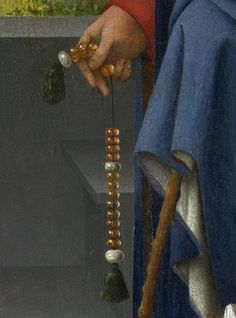 The Magdalen Reading (detail), by Rogier van der Weyden (Belgian, Medieval Paintings, Great Works Of Art, Medieval Jewelry, Medieval Life, Prayer Beads, Renaissance Art, Historical Costume, Old Art, 15th Century