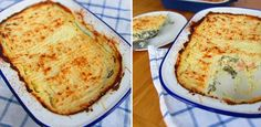 Low-carb fish pie Banting Diet, Banting Recipes, Lchf, Gluten Free Recipes, Low Carb Recipes, Cream Cheese Sauce, Vegetable Snacks, Easy Weekday Meals