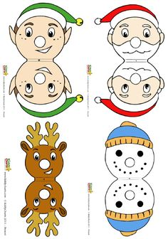 Turn Chupachups lollipops into Christmas characters. Fun stocking stuffer idea!