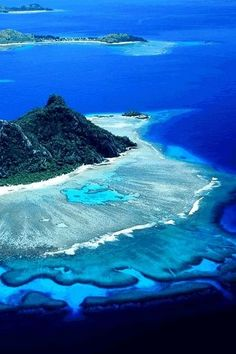 Wow.........what an extraordinary variety of the colour blue in this majestic picture.........love it......  Islands of Fiji