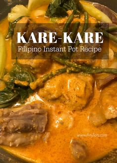 Best Filipino Recipes, Filipino Food, Filipino Dishes, Pinoy Food, Kare Kare Oxtail Recipe, Asian Dinner Recipes, Instant Pot Dinner Recipes, Oxtail Recipes