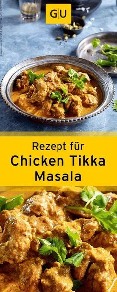"Rezept f& Chicken Tikka Masala aus dem Buch ""Currys"". Thai Recipes, Curry Recipes, Indian Food Recipes, Asian Recipes, Chicken Recipes, Healthy Recipes, Recipe Chicken, Indian Snacks, Butter Chicken"