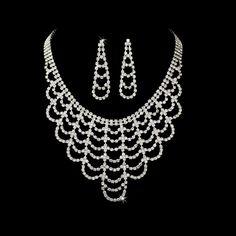 Crystal Chandelier Jewelry Set StressAwayBridalShop.com