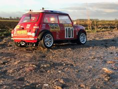 Tamiya Mini Cooper S. Rally of Monte Carlo 1995. M-05 chassis 1:10 rc car. Home build interior.