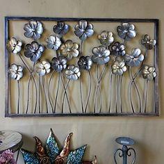 parede de metal decoração da parede arte, as flores desabrochavam decoração da parede aberta – BRL R$ 410,37