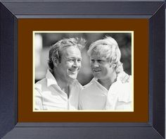 Arnold Palmer and Jack Nicklaus at Augusta National in 1973. Framed Golf Wall Décor Art 14 x 17