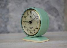 Vintage French Jade Green Alarm Clock by Maintenant contemporary clocks
