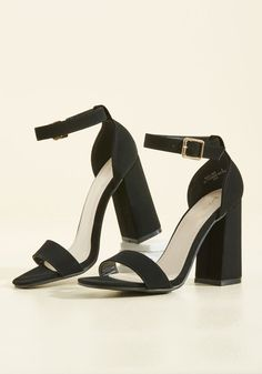 Ensemble Artistry Block Heel. What aesthetic genre will your look take on today? #black #modcloth
