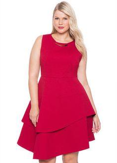 Plus Size Bonded Pique Dress