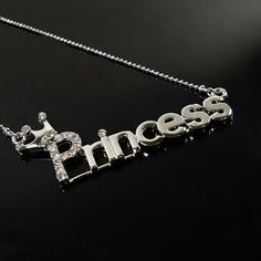 "Wedding Romantic Jewelry Exquisite Alloy Letter ""Princess"" Simple Elegant Style"