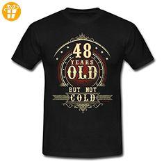 Geburtstag 48 Old But Not Cold RAHMENLOS® Männer T-Shirt von Spreadshirt®, XL, Schwarz - Shirts zum geburtstag (*Partner-Link)