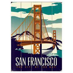 "Artehouse LLC San Francisco by Matthew Schnepf Graphic Art Print Multi-Piece Image on Wood Size: 20"" H x 14"" W"