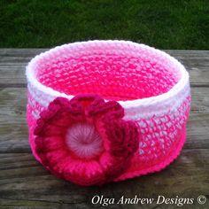 £15.00. Ready to ship worldwide. Crochet basket crocheted baskets crochet basket storage crocheted basket crochet storage basket crochet bowl crochet home OlgaAndrewDesigns©