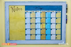 Cute, creative & affordable way to get organized! #DIY @tmemme28's Dry Erase Calendar!