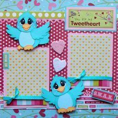 My-Tweetheart-Love-Valentines-Premade-Scrapbook-Pages-Paper-Piecing-Layout