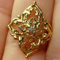 Hey, I found this really awesome Etsy listing at https://www.etsy.com/listing/236789999/ps-huge-sale-vintage-gold-diamond