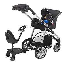 Mee-Go Sit N Ride Universal Buggy Ride On Board with Seat & Steering Wheel to fit All Pushchairs, Prams and Strollers
