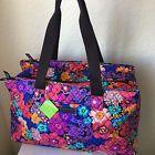 Floral Fiesta Triple Compartment Travel Bag Vera Bradley Authentic Bag NWT $108