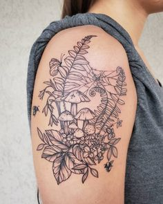 Do you like nature? If so, you may find your inspiration tattoo in our article! If you are on a search for the perfect nature tattoo inspo, keep on reading, we have a lot in store just… Nature Tattoo Sleeve Women, Forest Tattoo Sleeve, Sleeve Tattoos For Women, Unique Tattoos For Women, Dope Tattoos, Body Art Tattoos, Thigh Tattoos, Peace Tattoos, Forearm Sleeve Tattoos