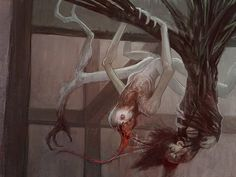 Arrach (Scottish) - Very elusive stalkers, these creatures rarely are seen by… Dark Creatures, Fantasy Creatures, Mythical Creatures, Myths & Monsters, Cool Monsters, Mythological Monsters, Mythological Creatures, Monster Concept Art, Monster Art