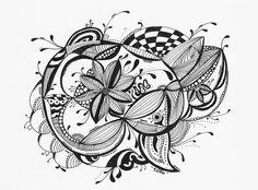 Le Creazioni di Kiara: DOODLING: Flower in the middle