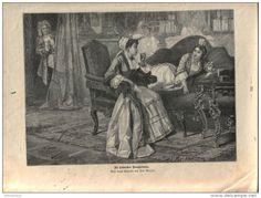 """Die heimlichen Raucherinnen - Druck, entnommen   aus """"die Gartenlaube"""", 1897"""