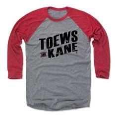 Jonathan Toews and Patrick Kane Dual K Chicago Officially Licensed NHLPA Baseball T-Shirt Unisex S-3XL