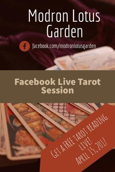 I'm officially announcing an AMAZING live event:  On April 15th, I'll be doing a Facebook Live tarot reading session. Those who sign-up through clicking the link will be able to have FREE one-three card tarot reading from me! Isn't that cool?!  Here's how you sign up: 1) Follow my Facebook page for my shop; that's where the live stream will take place. 2) Sign up through this link in order to reserve a spot during the live stream for your tarot reading. You can only receive a reading his…