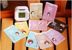 5 pice/lot Cute Cartoon Animal 2 Pockets PU Leather Card Holder Credit Bank Card Case Wallet For Women Girl Craft Supplies Uk, Cute School Supplies, Scrapbook Supplies, Kawaii Crafts, Daisy Love, Cute Stationary, Usb, Card Wallet, Card Case