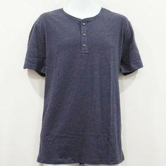 26ed67b5 Banana Republic Men's Short Sleeve Purple Moisture Wicking Henley Tee Size  L NWT #BananaRepublic #