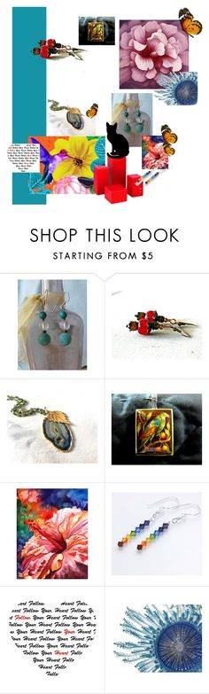 The Black Cat On The Red Pillar by igottahaveitnecklace on Polyvore featuring integrityTT, TintegrityT and EtsySpecialT