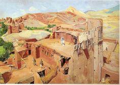J.Majorelle-Sur les terrasses de Tagouda-1949-1.jpg