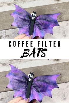 Coffee Filter Bats Craft