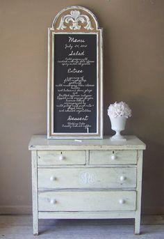 French Bistro Long Chalkboard