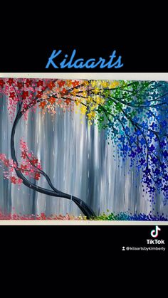 Galaxy Painting Diy, Diy Painting, Painting & Drawing, Canvas Painting Tutorials, Diy Canvas Art, Hand Art Kids, Drawings Pinterest, Cherry Blossom Painting, Art Drawings Sketches Simple