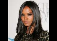 the flawless Liya Kebede - smoldering smokey eye with a nude lip