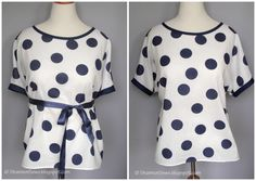 Sewing your own round or scoop neck cotton top is easy!