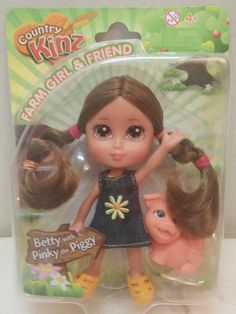 County Kinz Farm Girl and Friend Betty with Pinky Piggy Ages 4  6 inch New in package shipped fast and free | eBay!