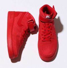 a04ebaab6d0 Gym Red Covers The Nike Air Force 1 Mid Red Nike Shoes