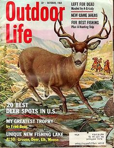 Sports & Outdoors Monthly Magazine Back Issues Deer Hunting Tips, Hunting Art, Fishing Life, Best Fishing, Outdoor Art, Outdoor Life, Magazine Art, Magazine Covers, Outdoor Magazine